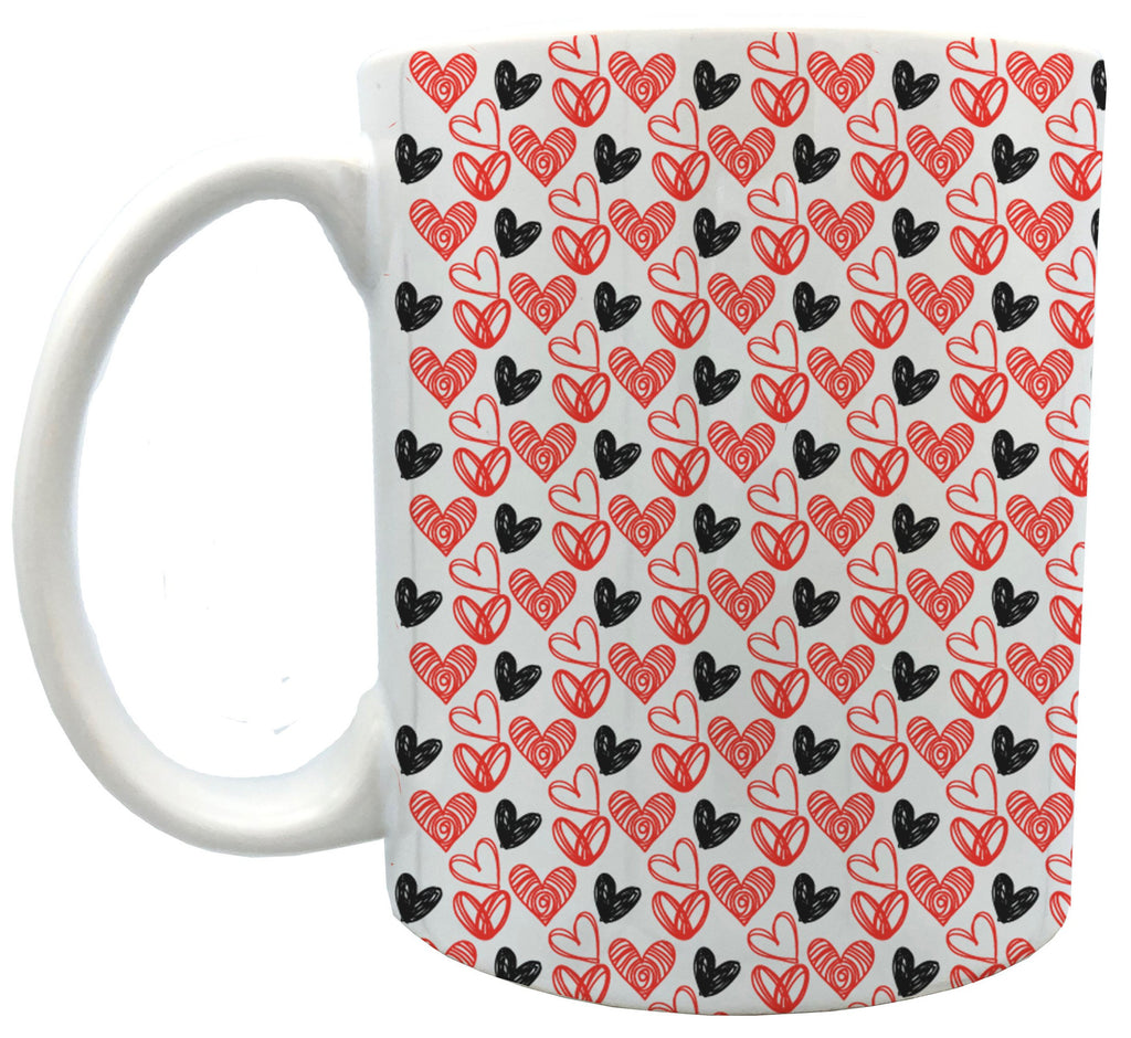 Hearts 11oz ceramic mug