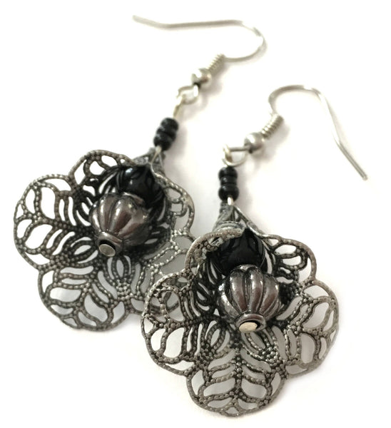 Earrings Blackorchid
