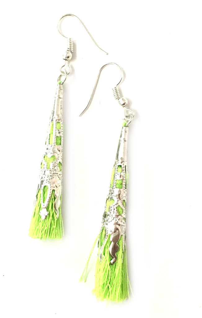 Corydalis Earrings Green