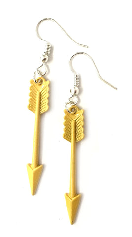 Boho Arrows Earrings Yellow