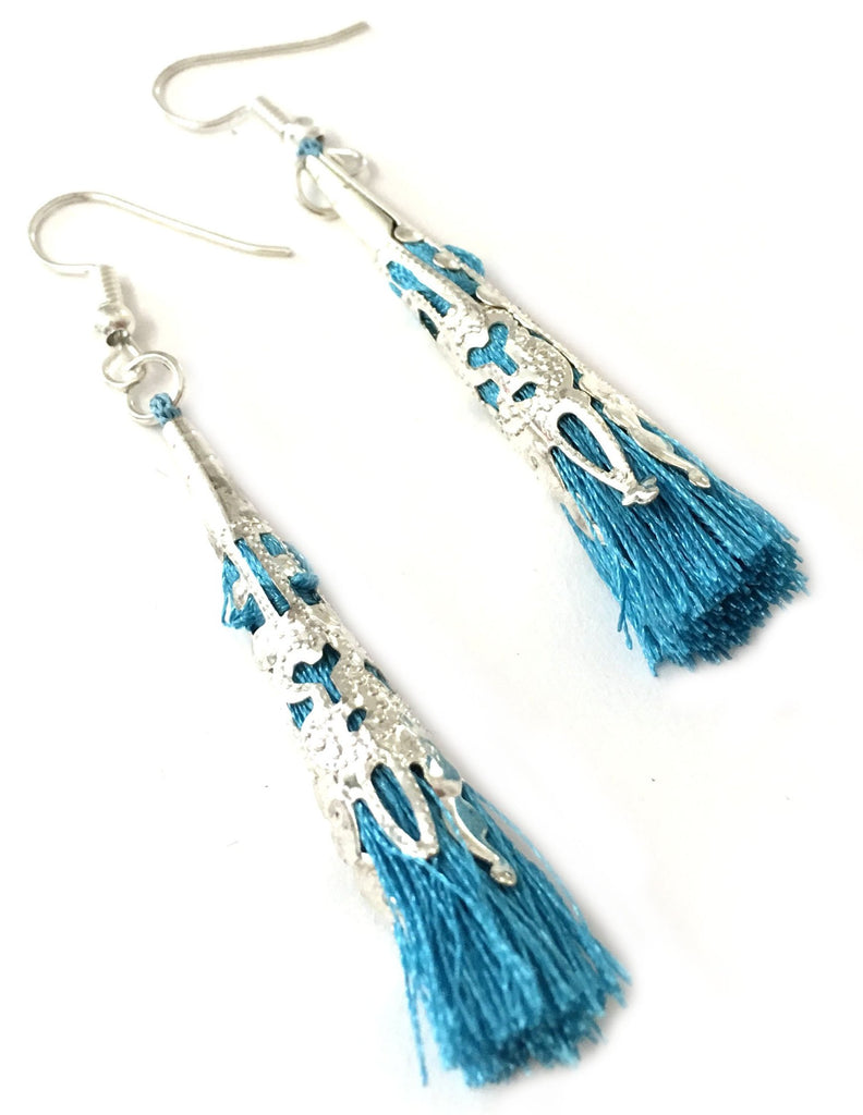Corydalis Earrings torquoise