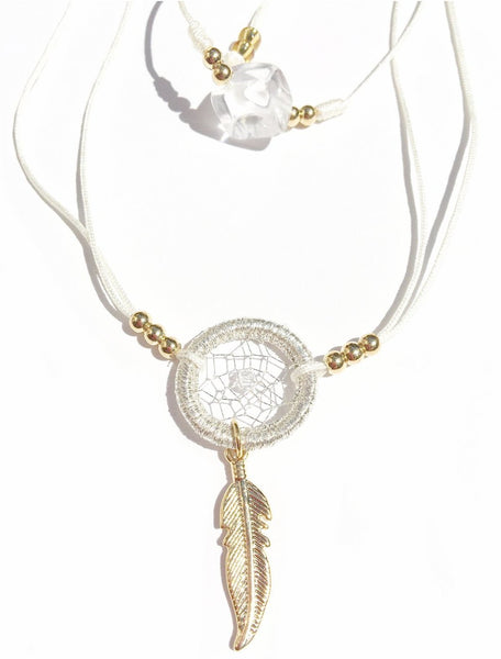 Dream Catcher Necklace and Cristal Necklace