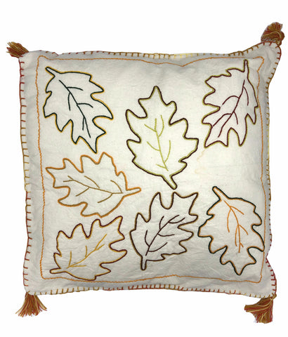 AUTUMN LEAVES ORANGE PILLOW