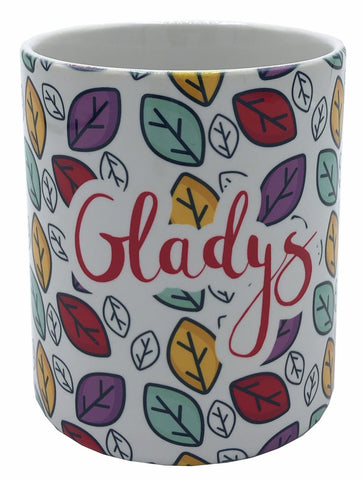 Personalized Colorful Leaves mugs 11 oz