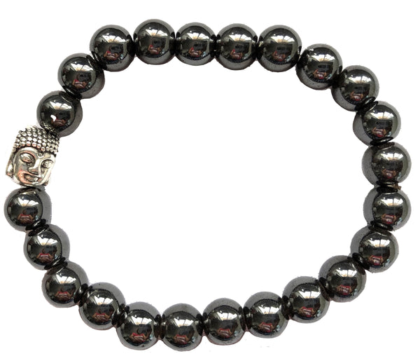 Hematite & Buddha Woman Breads Bracelet. (Set of 2)