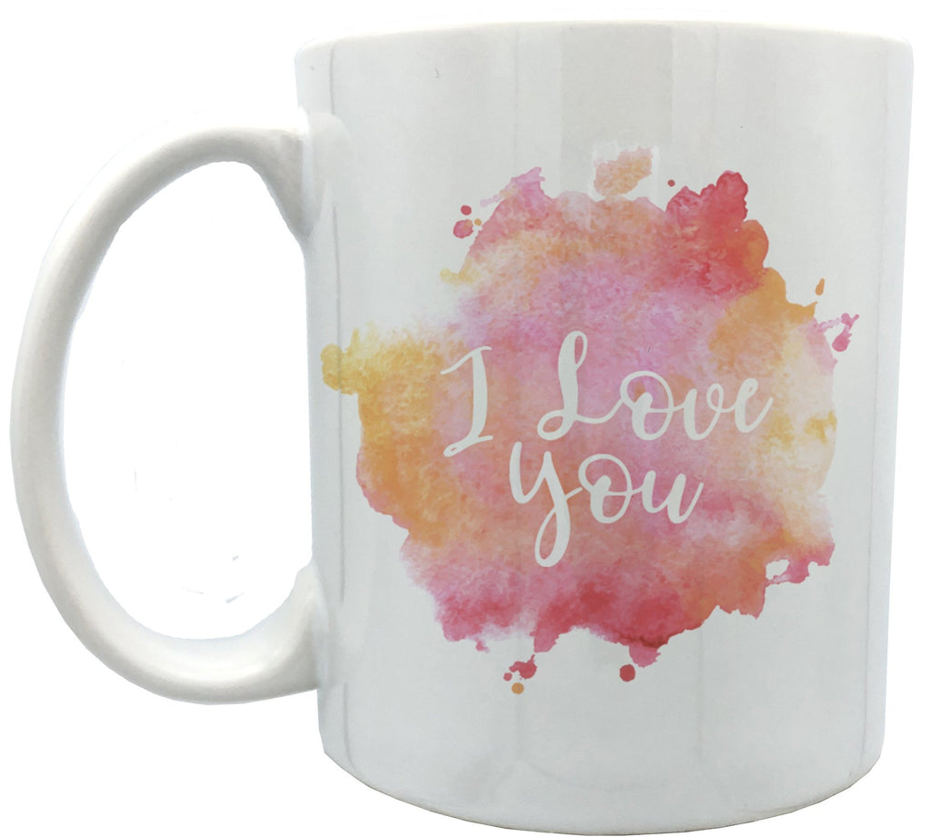 Watercolor I love you 11oz ceramic mug