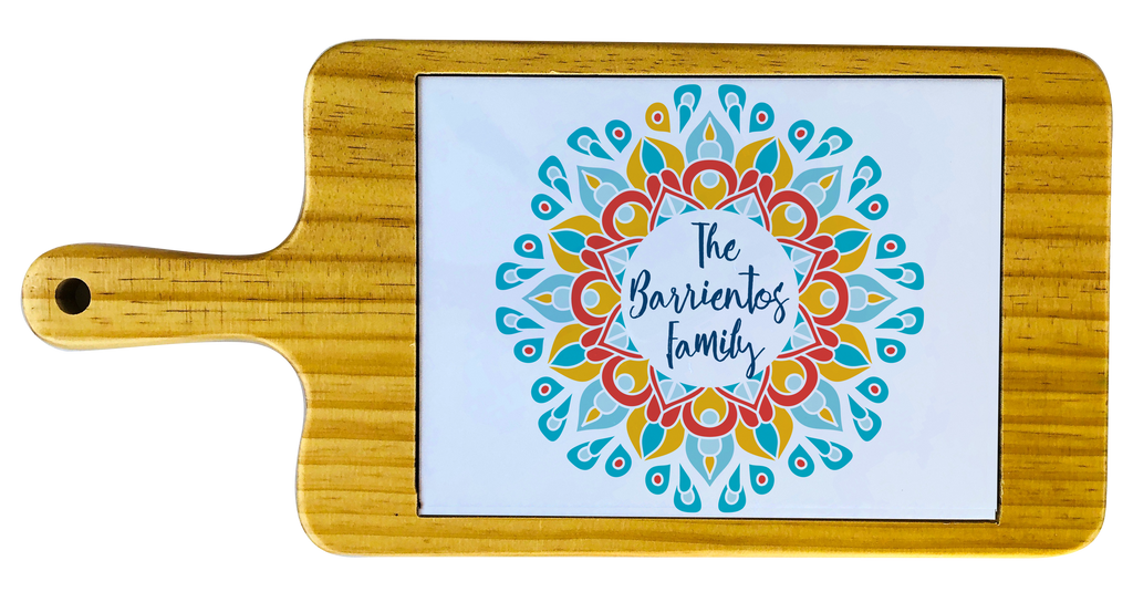 Personalized Flower Mandala Cheese board
