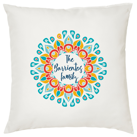 Personalized Mandala Pillow Case