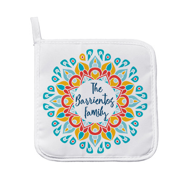 Personalized Mandala Pot Holder