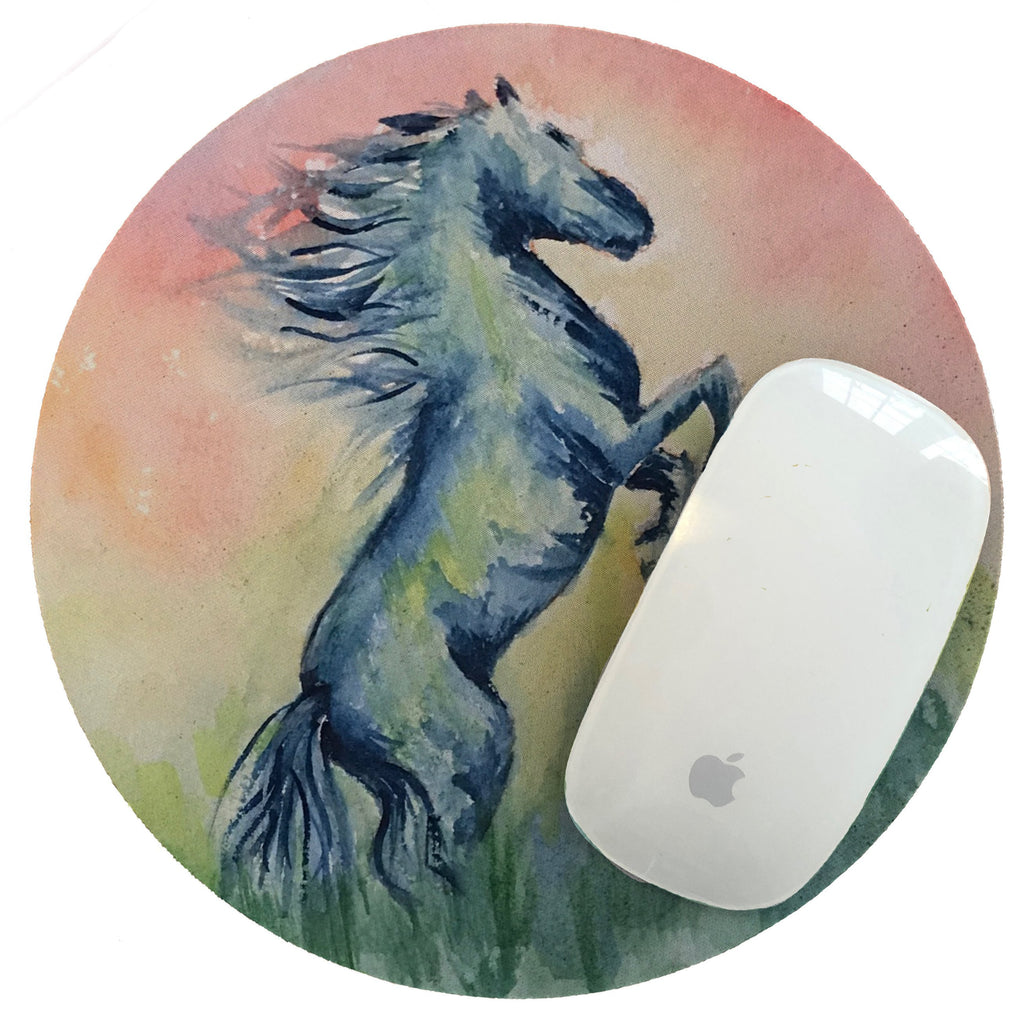Mouse Pad The Magnificent Jet Black Watercolor