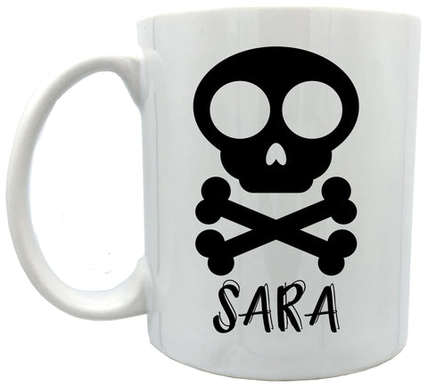 Personalized Skull2 mugs 11 oz
