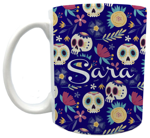 Personalized Skull3 mugs 11 oz