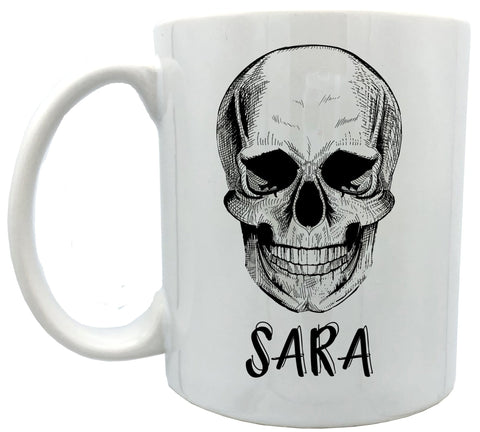 Personalized Skull mugs 11 oz