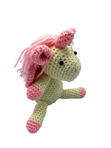 AMIGURUMI CROCHET ROSE UNICORN