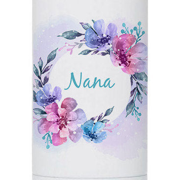 Personalized Watercolor Shadow 17oz Stainless Steel Bottle