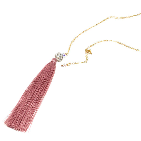 Victoria Falls Tassel Gold Filled Necklace