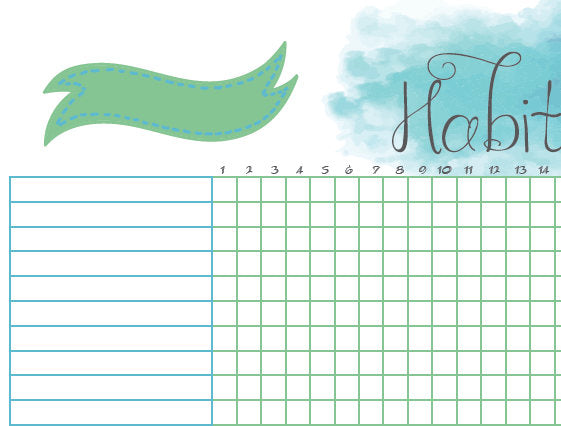 Printable Habit Tracker A5 Bullet Journal