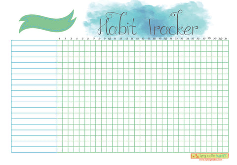 Printable Habit Tracker Letter Bullet Journal