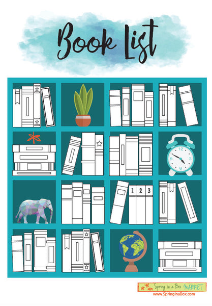 Printable Reading List Book Tracker Letter Bullet Journal