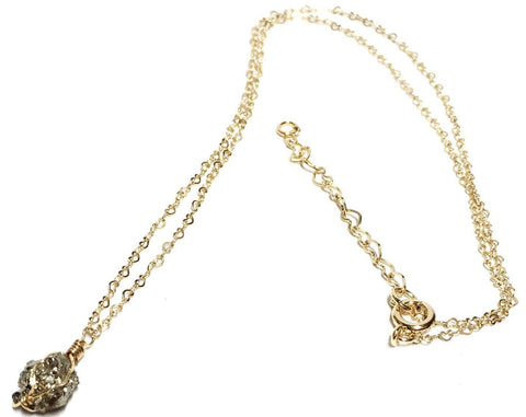 Pyrite Fortune Gold Filled Necklace