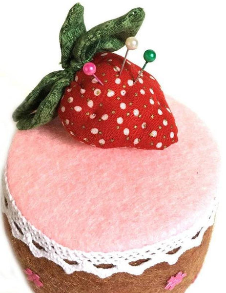 Strawberry cake Pin Cushion