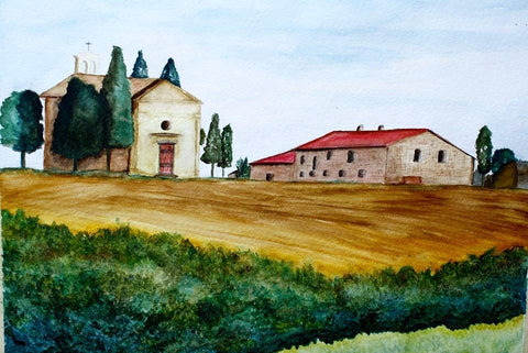 Tuscany, Watercolor 12 x 15 in.