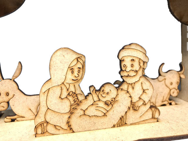 MDF Medium Size, Nativity