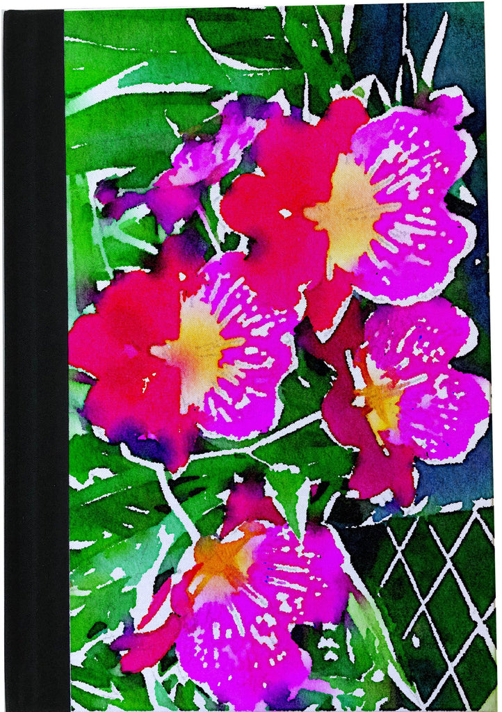 A5 Orchids Notebook Watercolor collection