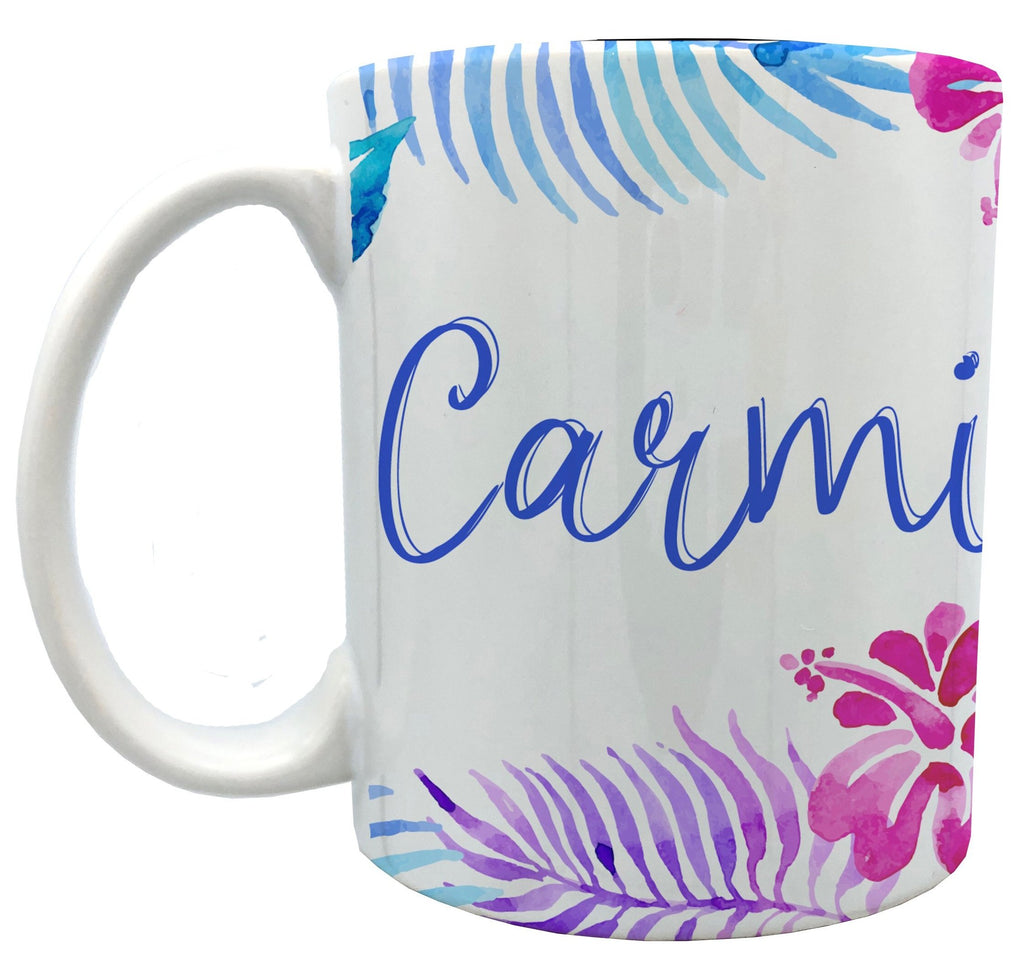 Personalized Multicolored Hawai mugs 11 oz