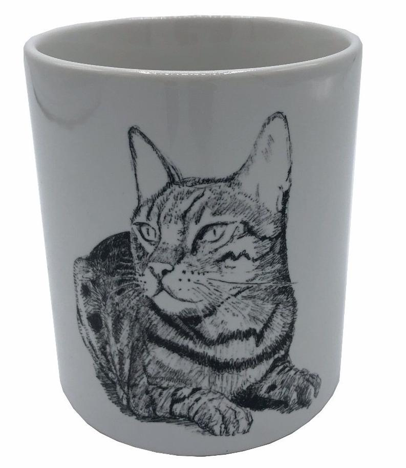 Gato by Andres Arango 11oz ceramic mug