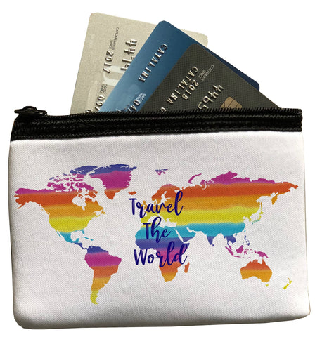 Travel the World Zippered Pouch