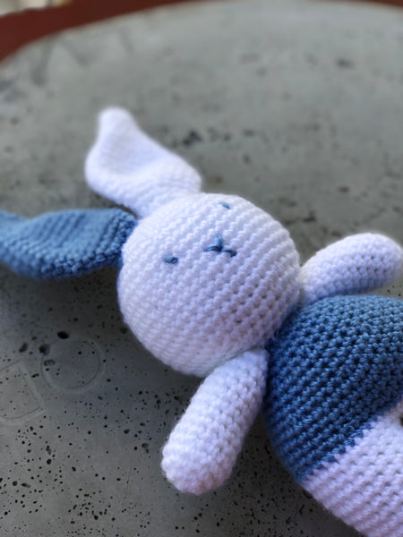 AMIGURUMI CROCHET RABBIT BLUE