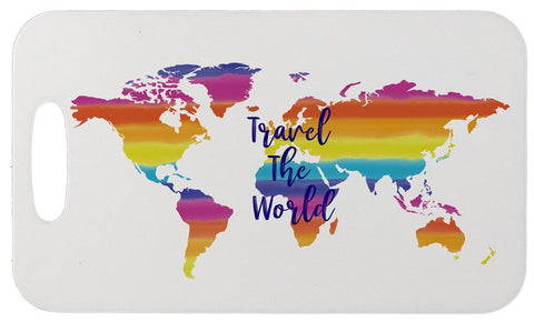 Travel the World Aluminum Bag Tag