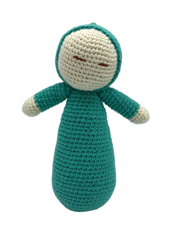Amigurumi  Crochet   Baby Dolly GreenBlue