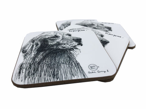Superperro by Andres Arango Coasters Set of 4