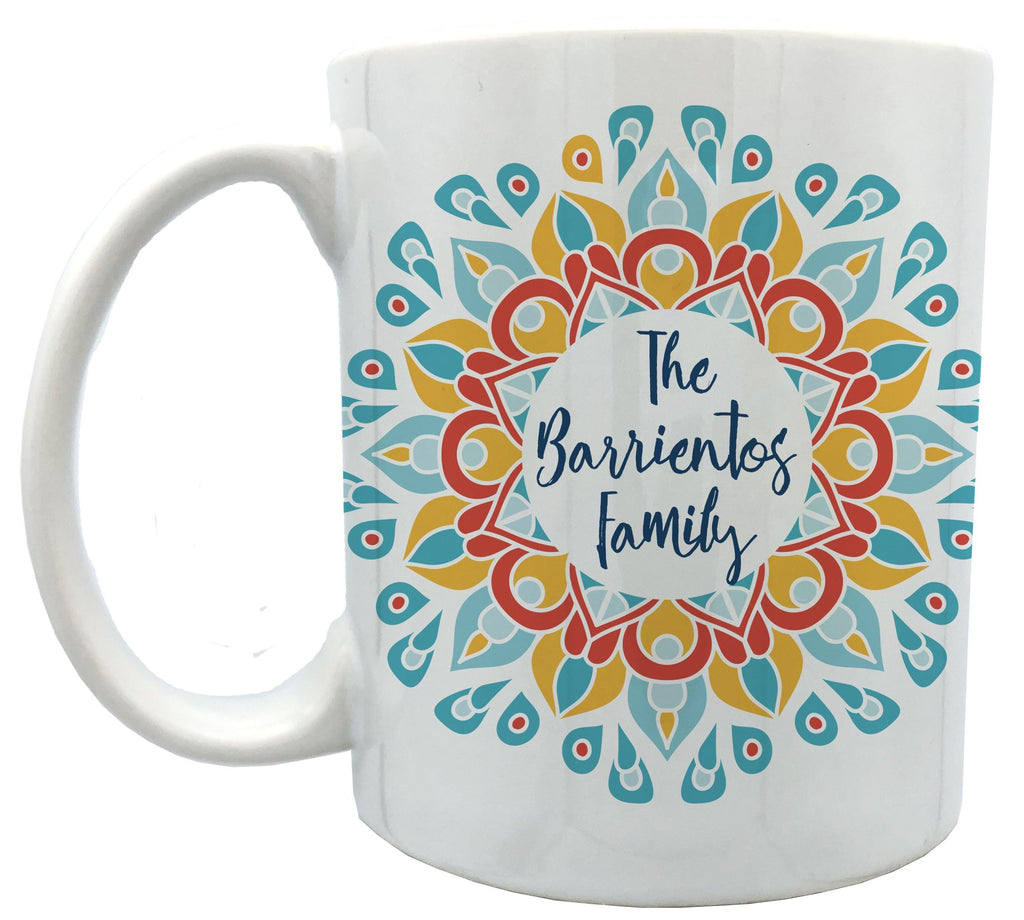 Personalized Flower Mandala mugs 11 oz
