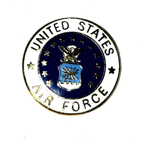 "USAF logo 1"" pin & 1 clutch"