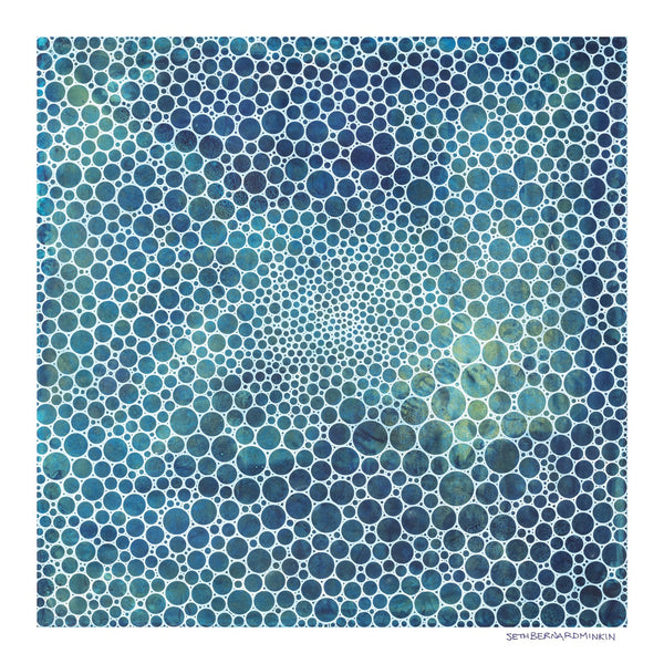 [white circles deep ocean] [limited edition print]