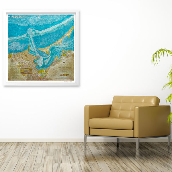 Nantucket Harbor Nautical Chart Print