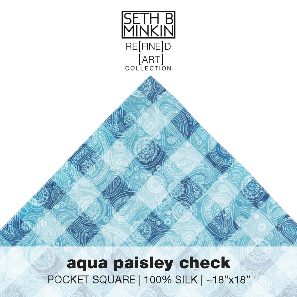 [aqua paisley check]  [silk square]