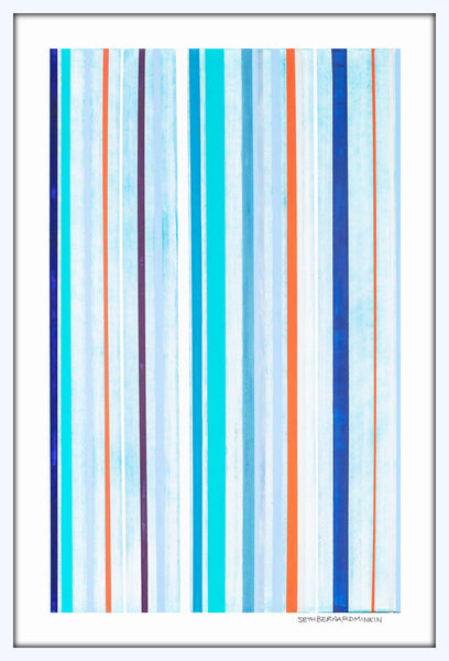 [red + blue stripes] [limited edition print]