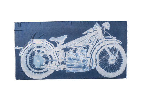 [vintage blueprint moto]  [large oblong scarf]