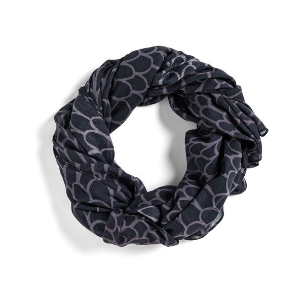 [black + plum scales]  [jumbo oblong scarf]