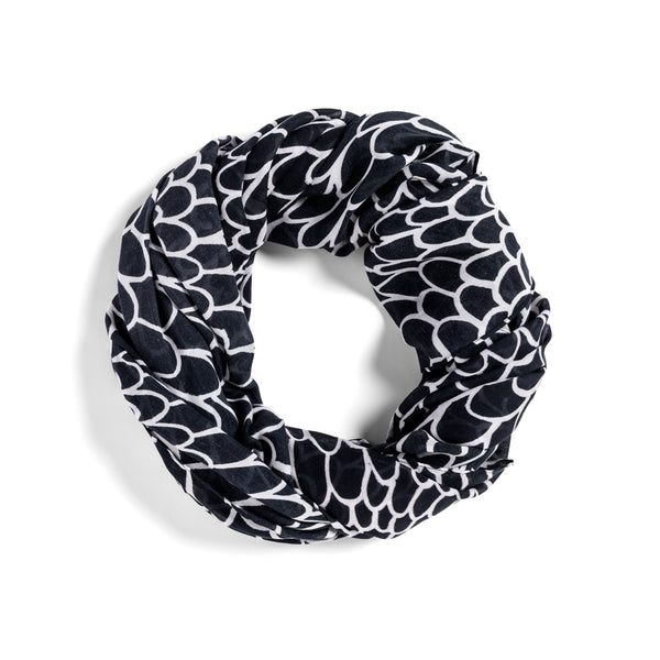 [black + white scales]  [jumbo oblong scarf]