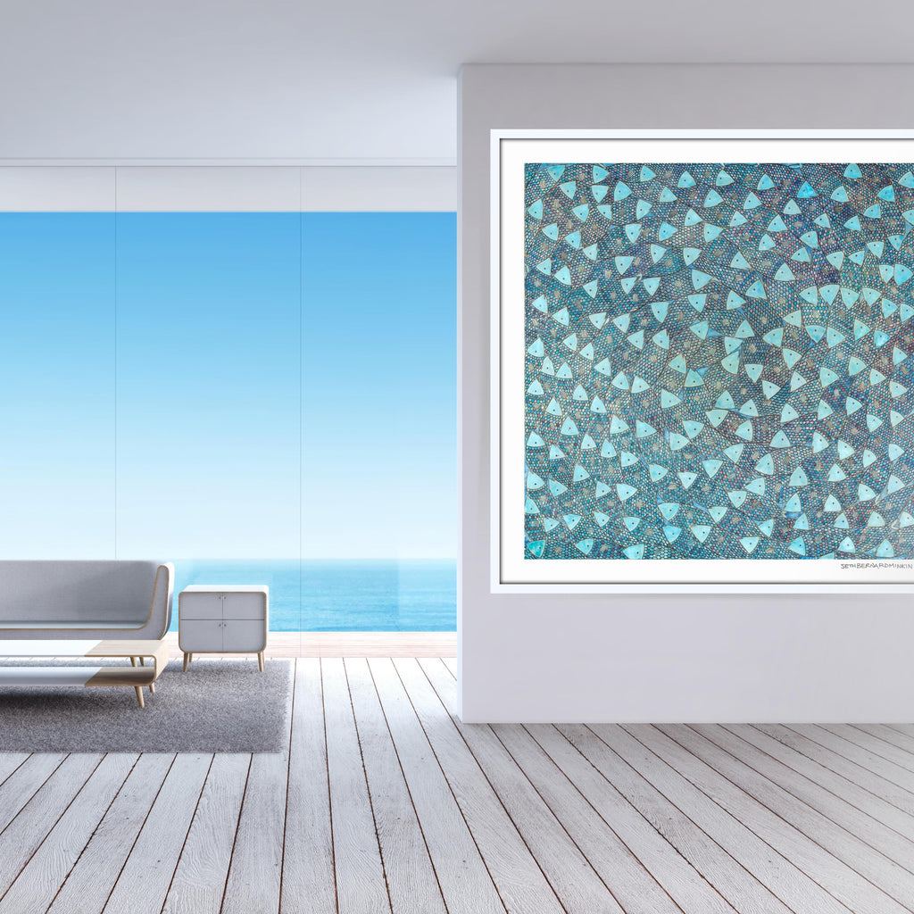 [baby blue sardines] [limited edition print]
