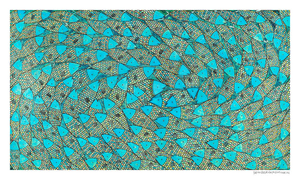 [Blue Sardines]  [Limited Edition Print]