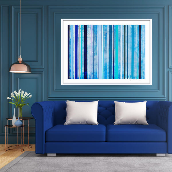 [blue stripes] [limited edition print]