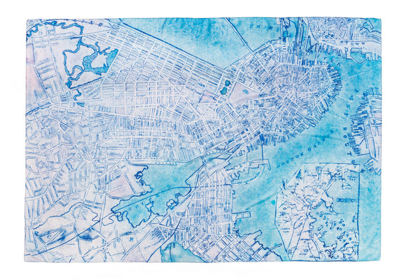 [boston map]  [jumbo oblong scarf]