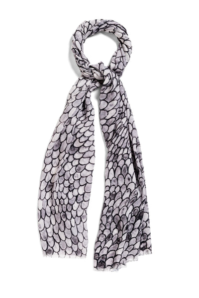 [charcoal scales]  [small oblong scarf]