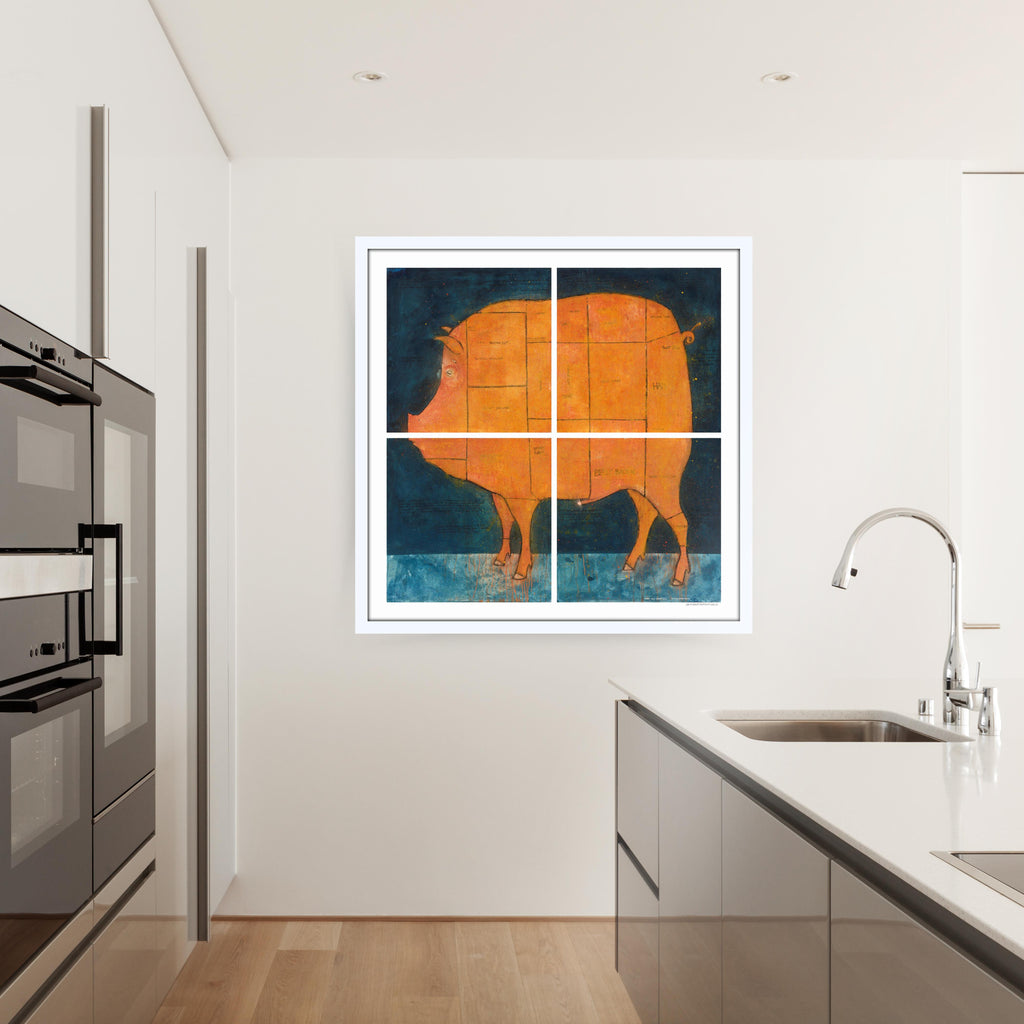 [Pork Cut Butcher Chart]  [Limited Edition Print | Printed Together]